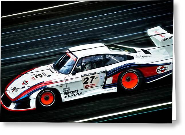 Moby Dick Greeting Cards - 1978 Porsche 935 Moby Dick Greeting Card by motography aka Phil Clark