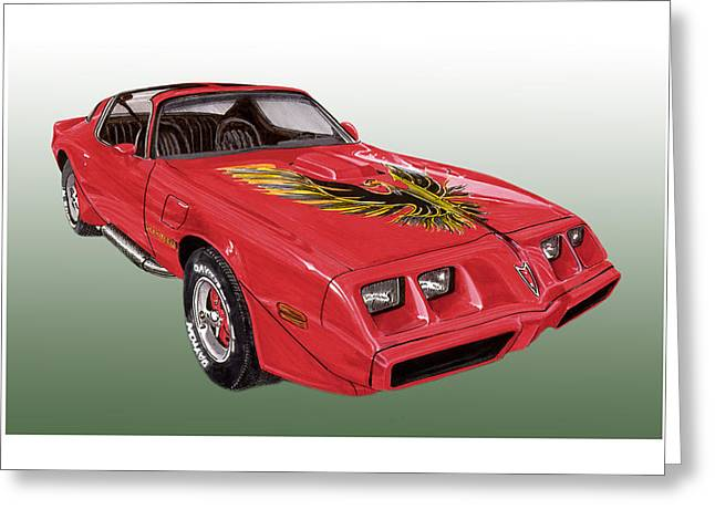 Art Of Muscle Greeting Cards - 1979 Pontiac Firebird Greeting Card by Jack Pumphrey