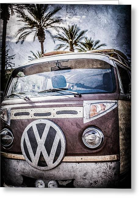 Bus Print Greeting Cards - 1979 Volkswagen VW Bus Emblem -0264ac Greeting Card by Jill Reger