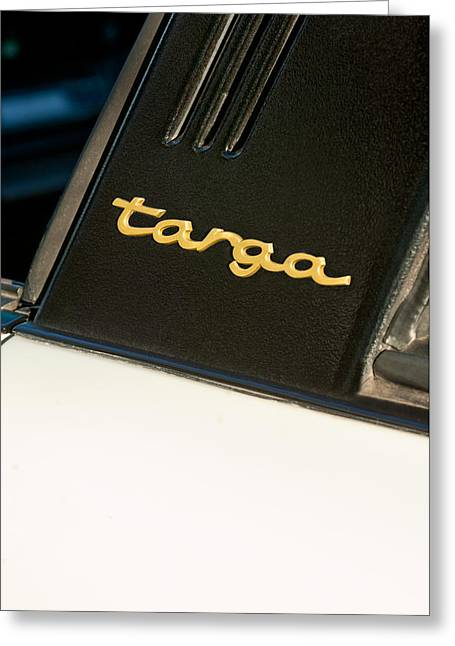 Famous Photographers Greeting Cards - 1980 Porsche 911SC Targa Emblem Greeting Card by Jill Reger