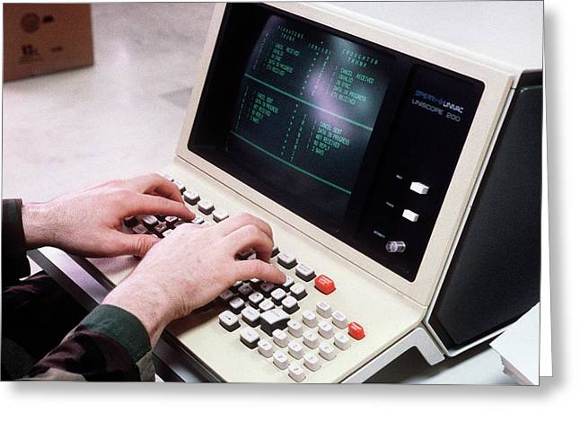 1980s Military Computing Greeting Card by Us Air Force