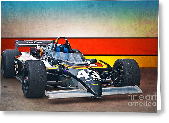 Indy Car Greeting Cards - 1983 Lola T700 Indy Car Greeting Card by Stuart Row