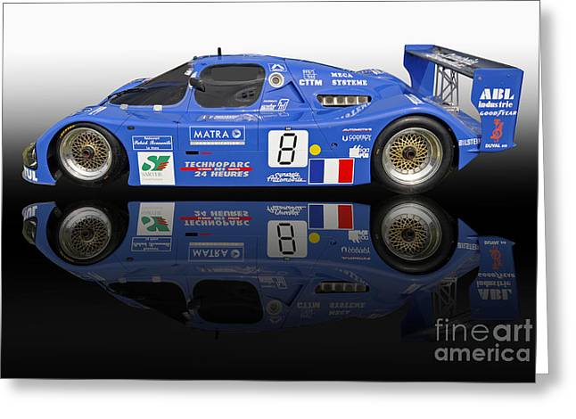 Sauber Greeting Cards - 1983 Sauber C6 Race Car Greeting Card by Tad Gage