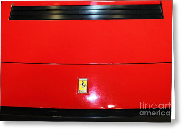 Vintage 1985 Greeting Cards - 1985 Ferrari 308 GTS 5D25650 Greeting Card by Wingsdomain Art and Photography