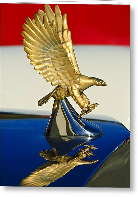 Collector Hood Ornament Greeting Cards - 1986 Zimmer Golden Spirit Hood Ornament Greeting Card by Jill Reger