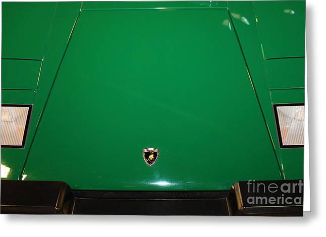 1987 Photographs Greeting Cards - 1987 Lamborghini Countach 5D25653 Greeting Card by Wingsdomain Art and Photography