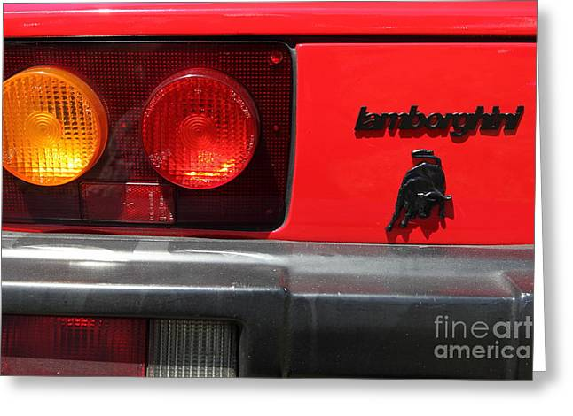 1987 Photographs Greeting Cards - 1987 Lamborghini Jalpa Targa 5D22901 Greeting Card by Wingsdomain Art and Photography