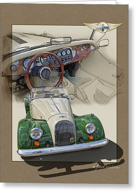 1987 Digital Art Greeting Cards - 1987 Morgan Plus8 4.5 Litre Greeting Card by Roger Beltz