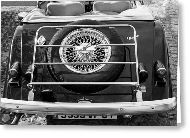 1987 Photographs Greeting Cards - 1987 Morgan Roadster in Mono Greeting Card by Nomad Art And  Design
