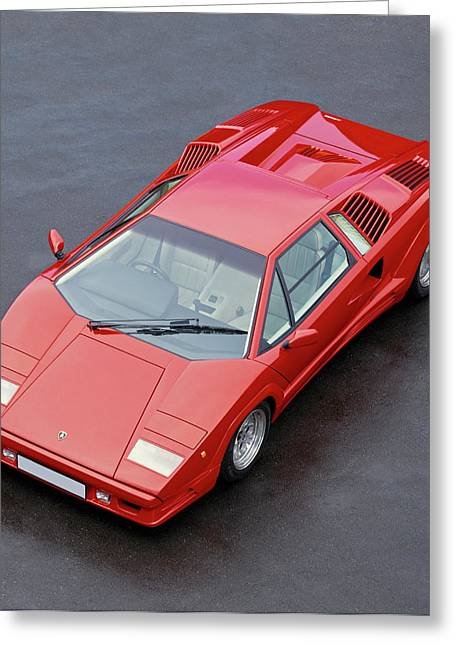 1990 Lamborghini Countach Qv Greeting Card by Panoramic Images