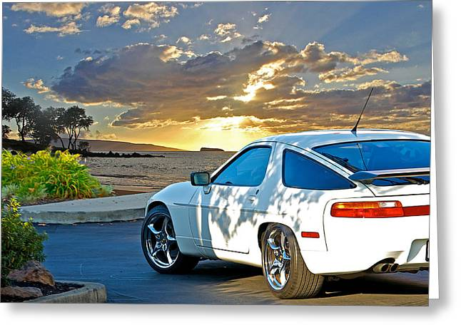 Rally Greeting Cards - 1990 Porsche 928 Greeting Card by Dave Koontz