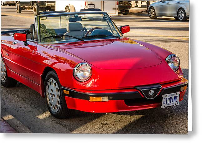 1992 Greeting Cards - 1992 Alfa Romeo Spider Veloce Greeting Card by Steve Harrington