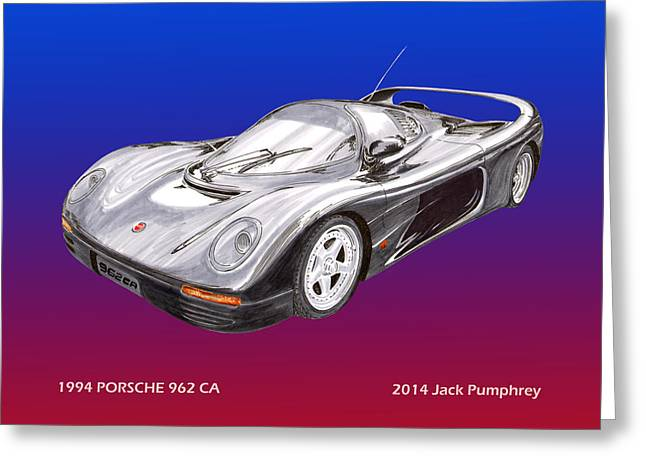 Replacement Greeting Cards - 1994 Porsche 962 C A Greeting Card by Jack Pumphrey