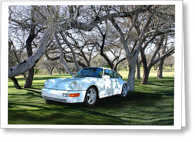 Displacement Greeting Cards - 1994 Porsche 964 Targa Wide Body Greeting Card by Jack Pumphrey