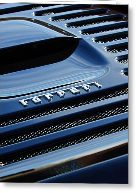 Italian Marque Greeting Cards - 1997 Ferrari F 355 Spider Rear Emblem -153c Greeting Card by Jill Reger