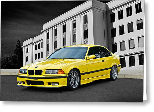 Rally Greeting Cards - 1998 BMW M3 Coupe Greeting Card by Dave Koontz
