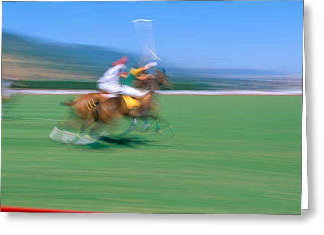 1998 World Polo Championship, Santa Greeting Card by Panoramic Images