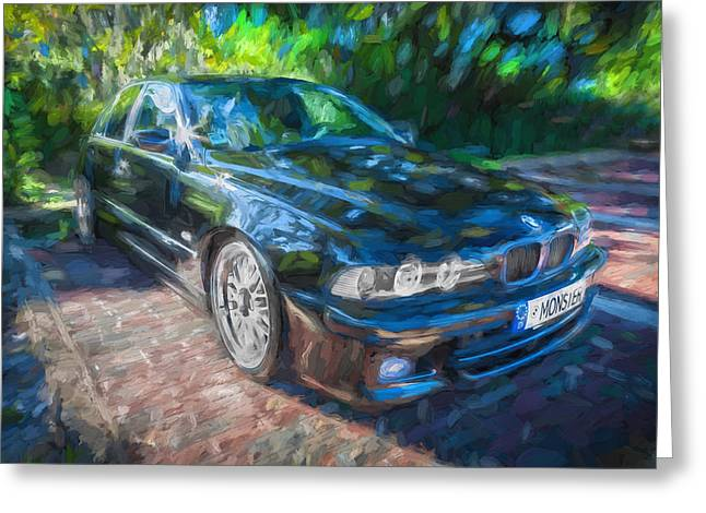 Accelerate Greeting Cards - 1999 BMW 528i Sports Car Painted  Greeting Card by Rich Franco