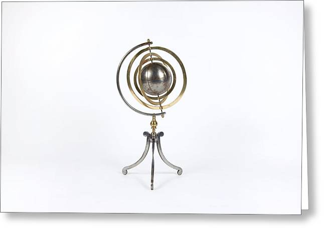 Armillary Greeting Cards - 19th Century armillary sphere Greeting Card by Science Photo Library