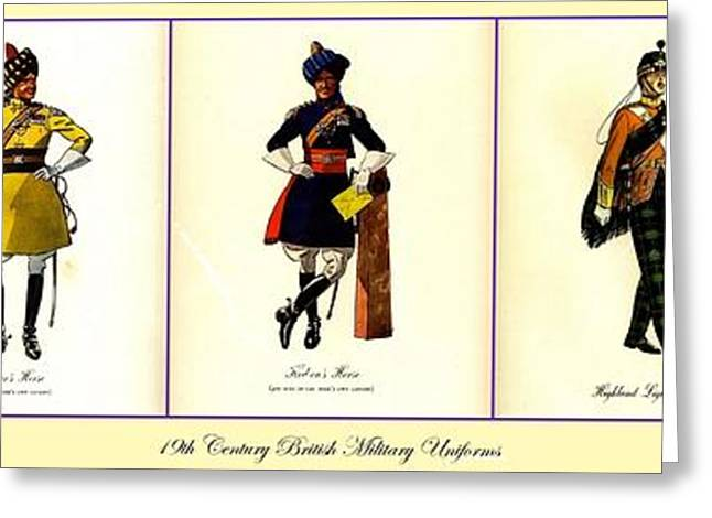 Award Greeting Cards - 19th Century British Military Uniforms Greeting Card by Don Struke