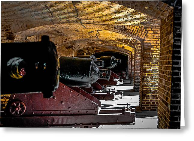 19th Century Cannon Line Greeting Card by Optical Playground By MP Ray