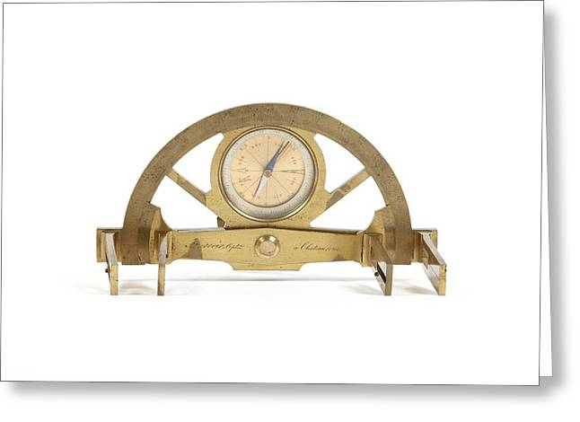 Surveying Greeting Cards - 19th Century graphometer Greeting Card by Science Photo Library
