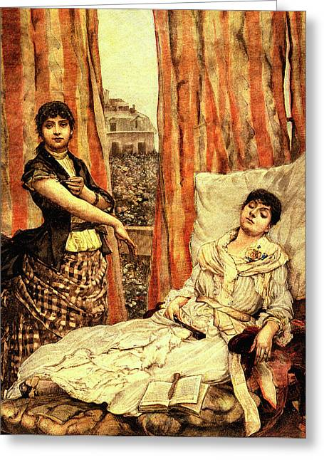 19th Century Morphine Addicts Greeting Card by Collection Abecasis