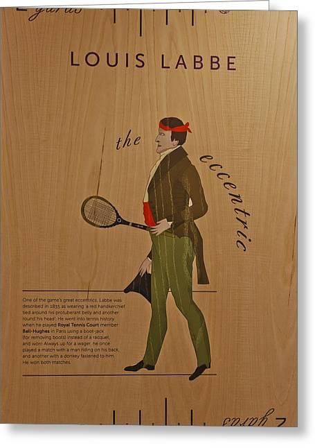 Racquet Greeting Cards - 19th Century Tennis Player 2 Greeting Card by Maj Seda