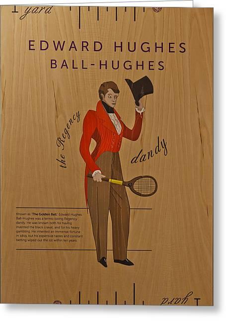 Racquet Greeting Cards - 19th Century Tennis Player Greeting Card by Maj Seda