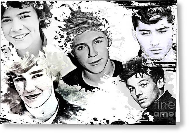 Artist Singer Greeting Cards - 1D Splat Greeting Card by The DigArtisT