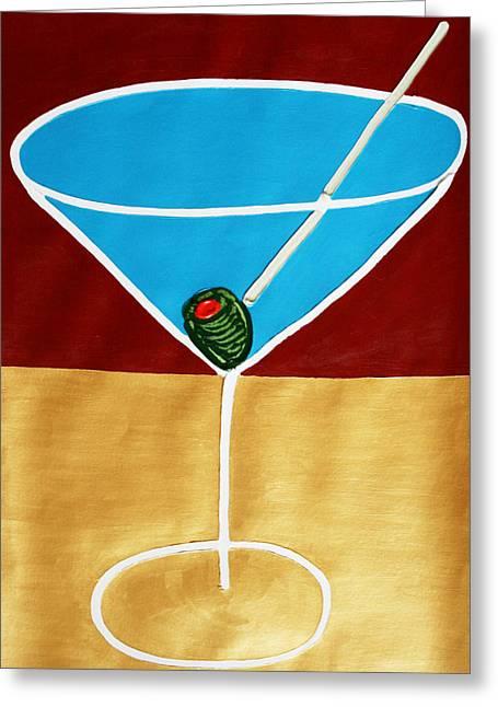 1st Martini Greeting Card by Matthew Brzostoski