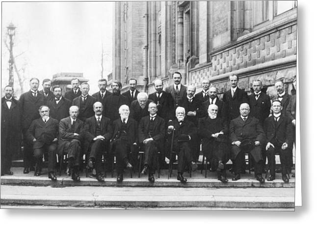 Berthoud Greeting Cards - 1st Solvay Conference on Chemistry, 1922 Greeting Card by Science Photo Library