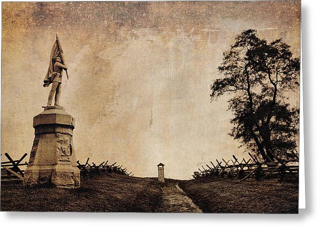Antietam Greeting Cards -  Bloody Lane aka The Sunken Road Greeting Card by Mick Burkey