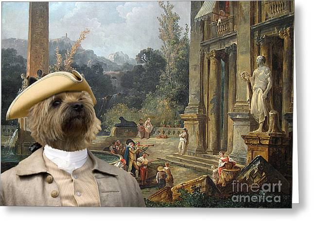 Cairn Terrier Greeting Cards -  Cairn Terrier Art Canvas Print Greeting Card by Sandra Sij