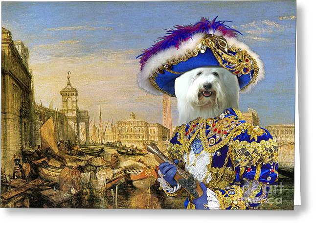 Coton Greeting Cards -  Coton de Tulear Art Canvas Print Greeting Card by Sandra Sij