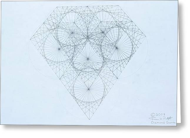 Diamond Quanta Greeting Card by Jason Padgett