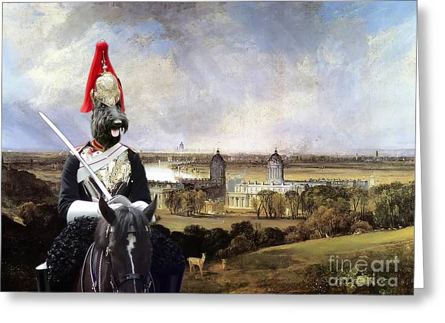 Scottish Terrier Greeting Cards -  Scottish Terrier Art Canvas Print Greeting Card by Sandra Sij