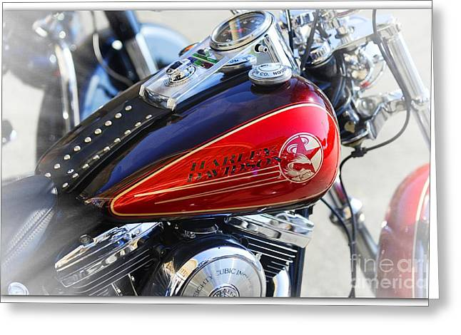 Multi-engine Greeting Cards - 110th Anniversary Harley Davidson Greeting Card by Stefano Senise