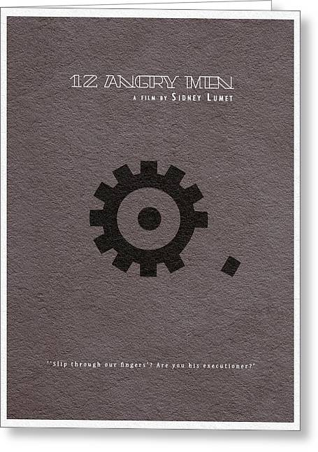 Angry Greeting Cards - 12 Angry Men Greeting Card by Ayse Deniz