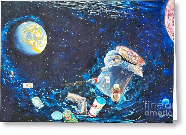 Pepsi Can Greeting Cards - 168 Trash Explosion Greeting Card by Sigrid Tune