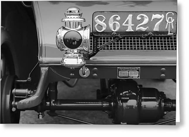 D.w Greeting Cards - 1906 White Model F Roi des Belges Touring Rear Lamp Greeting Card by Jill Reger