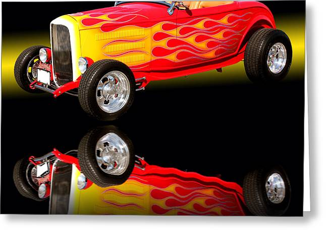 Car Framed Prints Greeting Cards - 1932 Ford V8 Hotrod Greeting Card by Jim Carrell