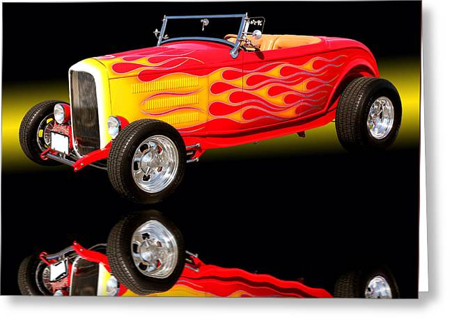 1932 Ford V8 Hotrod Greeting Card by Jim Carrell