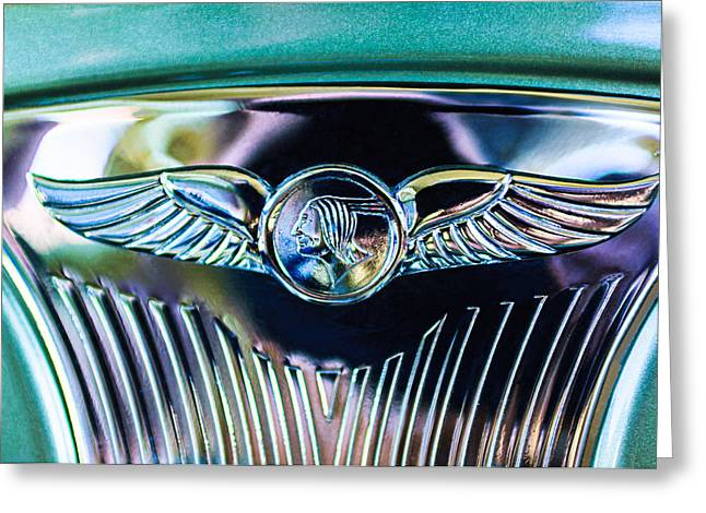 1933 Pontiac Greeting Cards - 1933 Pontiac Emblem Greeting Card by Jill Reger