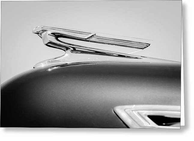 1941 Greeting Cards - 1941 Chevrolet Hood Ornament Greeting Card by Jill Reger