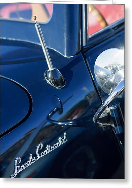 1941 Greeting Cards - 1941 Lincoln Continental Convertible Emblem Greeting Card by Jill Reger