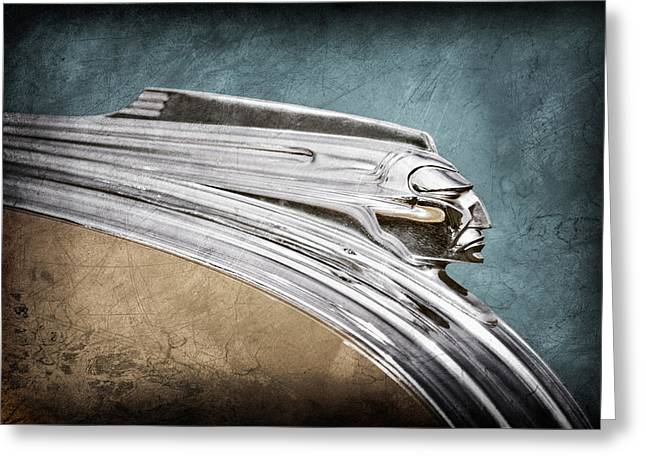 Recently Sold -  - Collector Hood Ornament Greeting Cards - 1941 Pontiac Hood Ornament Greeting Card by Jill Reger