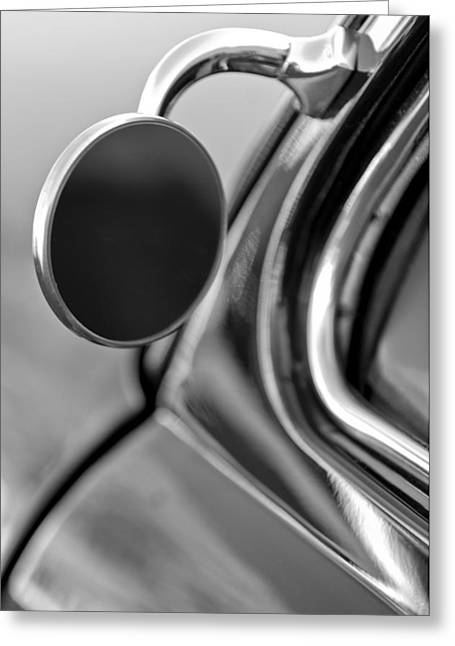 Custom Mirror Greeting Cards - 1950 Mercury Custom Lead Sled Side Mirror  Greeting Card by Jill Reger