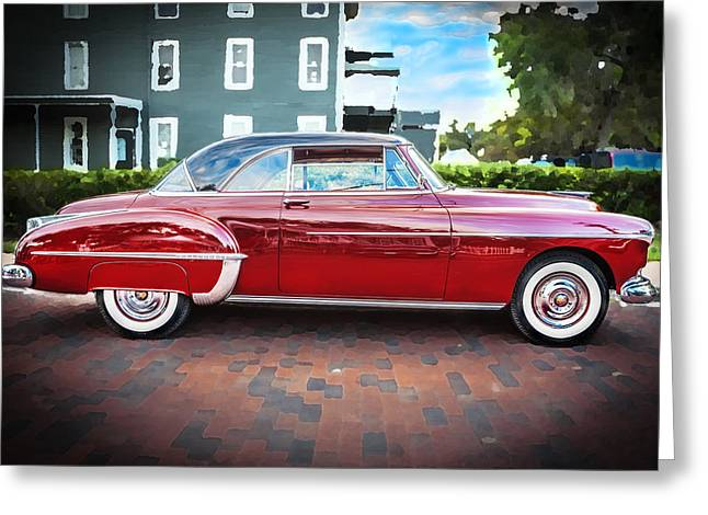 Kustom Greeting Cards - 1950 Oldsmobile 88 Futurmatic Coupe  Greeting Card by Rich Franco