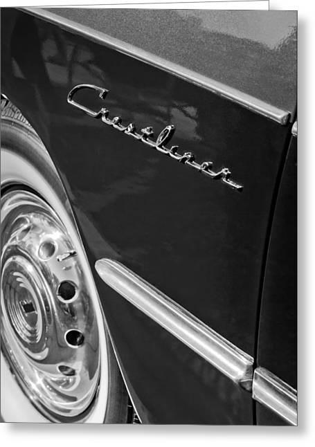 1951 Greeting Cards - 1951 Ford Crestliner Emblem - Wheel Greeting Card by Jill Reger